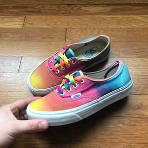 Rainbow Vans Low Tops